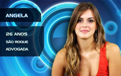 Angela do BBB 2014.
